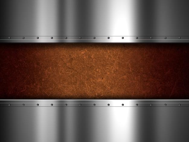 Textura grunge con planchas metálicas Foto gratis