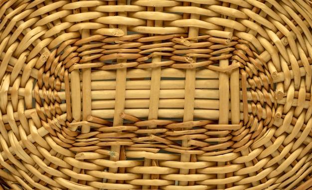 Con textura de madera o fondo de la cesta. patrón de tejido hecho de material de madera. mimbre Foto Premium