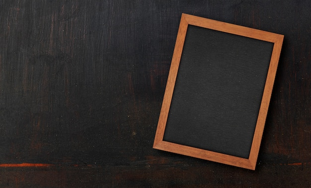Textura de madera pintada negro de primer plano Foto Premium