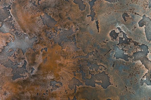 Textura de óxido en superficie de metal Foto Premium