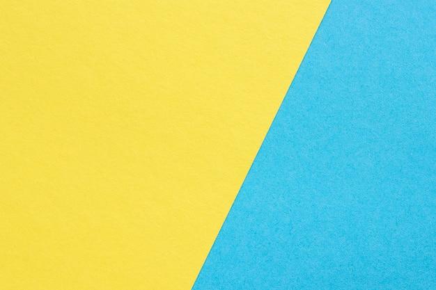 Textura de papel grueso, fondo abstracto amarillo y azul. Foto Premium