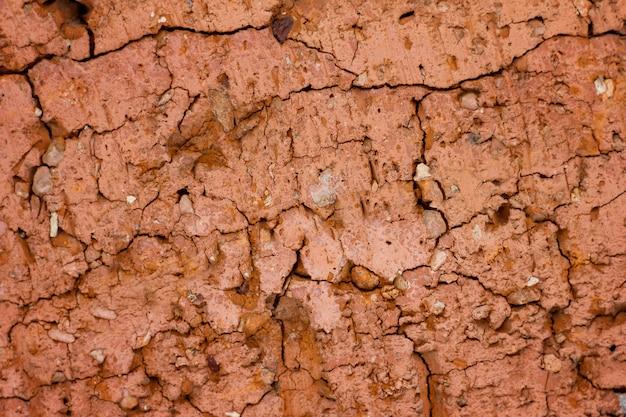 Textura de piedra roja rota Foto Premium