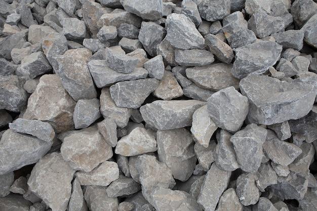 Textura de piedra triturada. materiales de construcción de piedra triturada. Foto Premium
