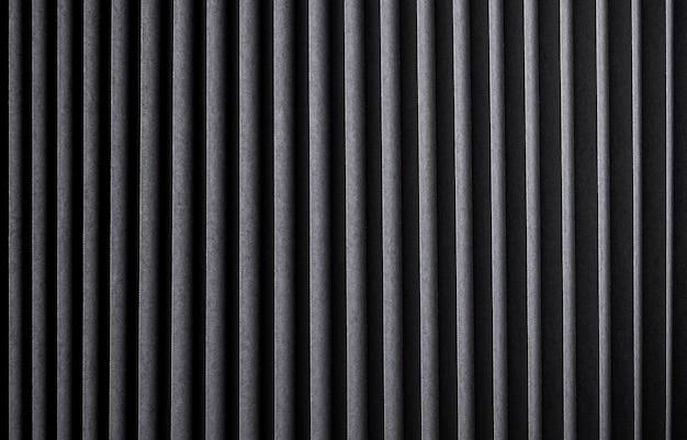 Textura de rayas negras, fondo de metal acanalado Foto Premium