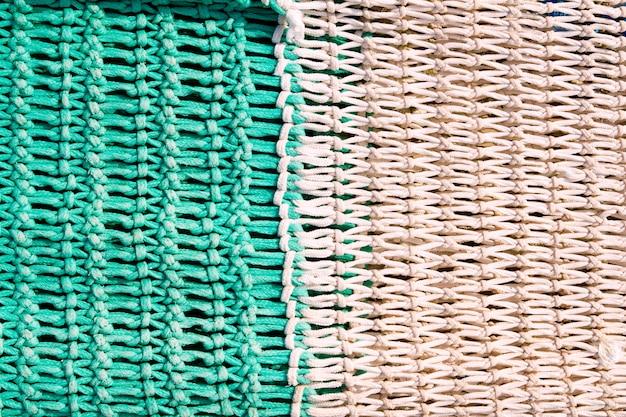 Texturas de aparejos de redes de pesca del mediterráneo. Foto Premium