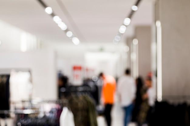 Tienda de ropa con efecto borroso Foto gratis