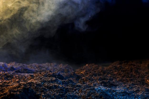 Tierra con niebla Foto gratis