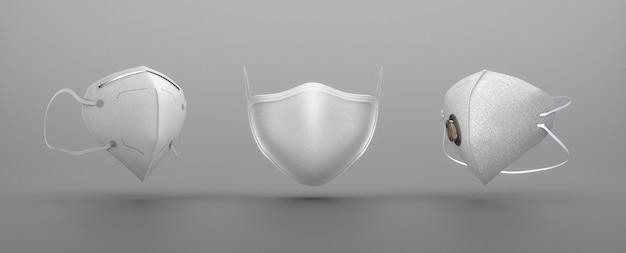 Tipo de mascarillas médicas blancas Foto gratis