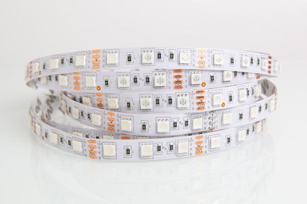 Tira de luces led para decoración de interiores Foto Premium