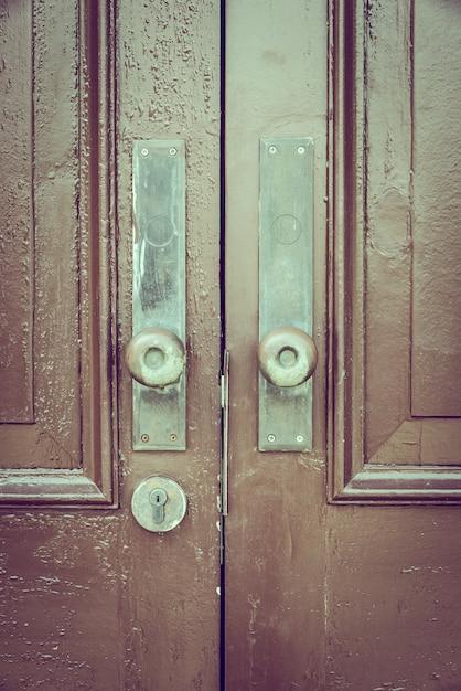 Tirador de puerta estilo vintage Foto gratis