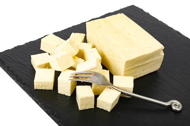 Tofu - producto de proteína de leche de soja. foto de estudio. Foto Premium
