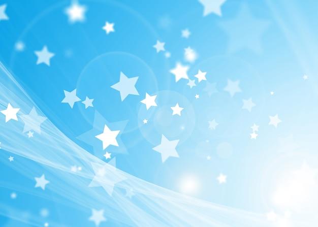 Tono Azul Suave Abstracto Con Fondo De Estrellas Mágicas