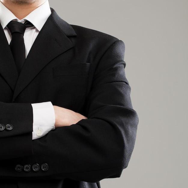 Torso de hombre de negocios en traje Foto gratis