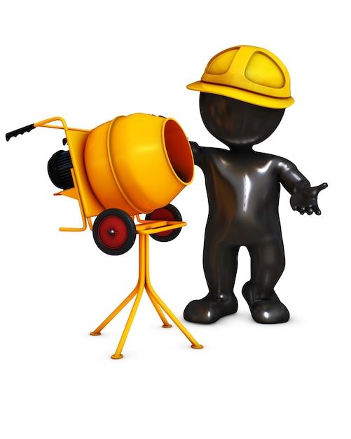 Trabajador de la construcción haciendo su trabajo   Descargar Fotos ...