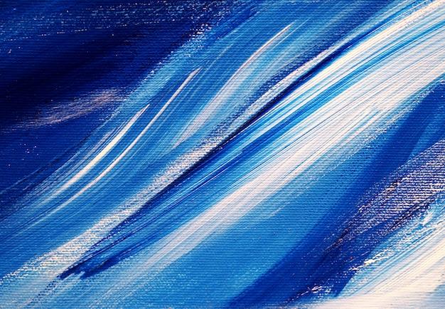 Trazos de pincel blanco azul colores pintura al óleo resumen de antecedentes y textura. Foto Premium