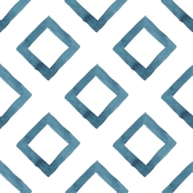 Tribal geométrico azul abstracto de patrones sin fisuras Foto Premium