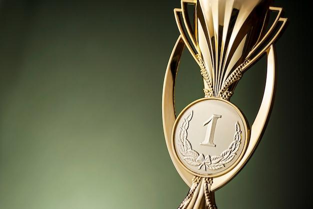 Trofeo de campeón de oro del primer lugar Foto Premium