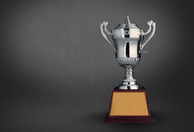 Trofeo moderno con fundamento negro Foto Premium