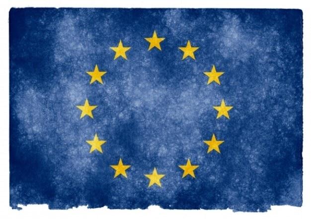 unión europea bandera del grunge Foto Gratis