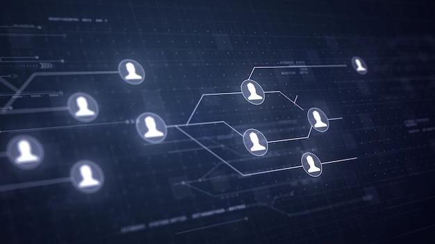 Usuario Red de personas Conexión de la placa de circuito Tecnología de conexión Foto Gratis