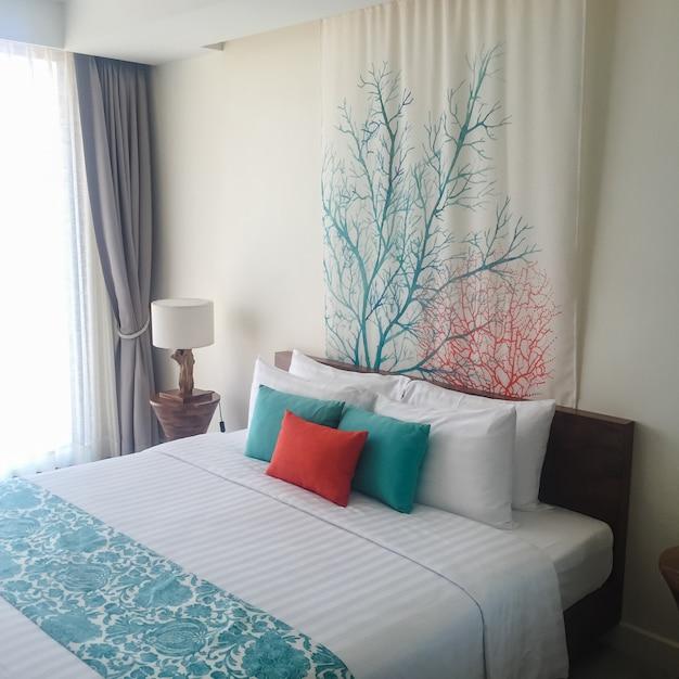 Vacaciones habitación juvenil marrón dormir Foto gratis