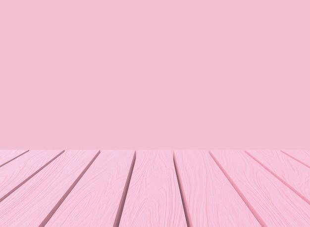 Vacie la tabla de madera del panel del color en colores pastel suave dulce en fondo de la pared del estilo del montaje. Foto Premium