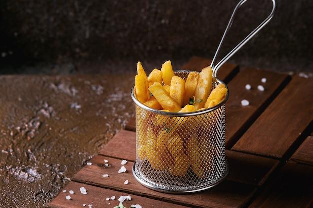 Variedad de papas fritas Foto Premium