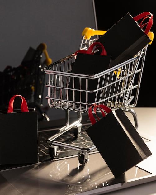 Ventas de cyber monday shopping Foto Premium