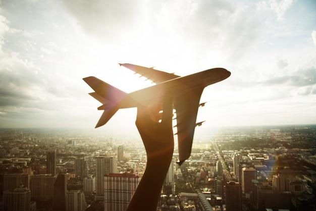 Viaje de avión de avión viaje Foto gratis