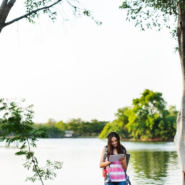 Viajero mujer Foto gratis