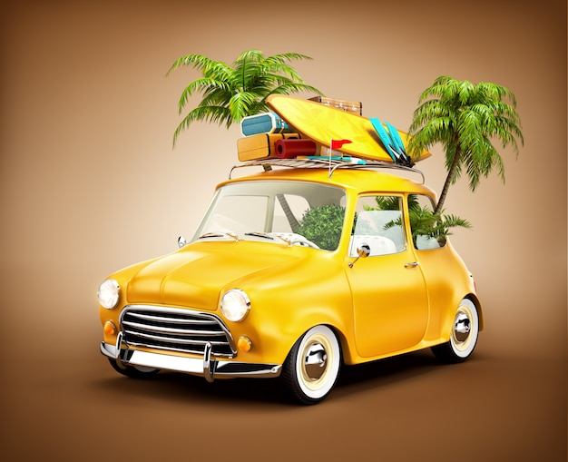 Viajes en coche y turismo Foto Premium