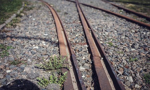 Vías de tren o tranvía Foto Premium