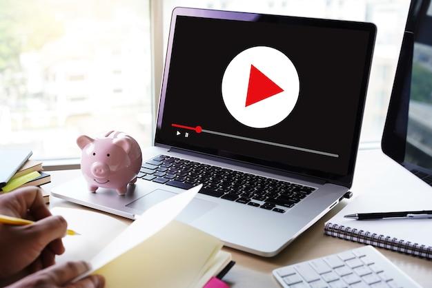 Video marketing audio video, mercado canales interactivos, negocios Foto Premium