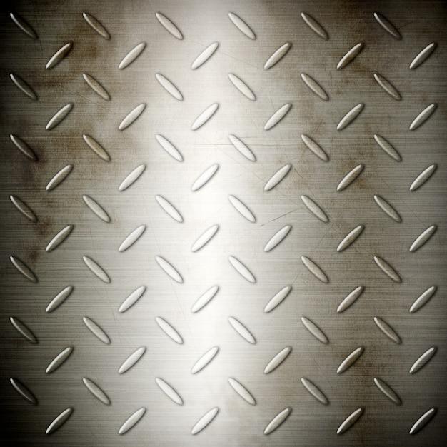 Viejo diamante de acero cepillado placa textura de fondo Foto Premium
