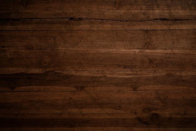Viejo fondo de madera textured oscuro del grunge, la superficie de la vieja textura de madera marrón Foto Premium