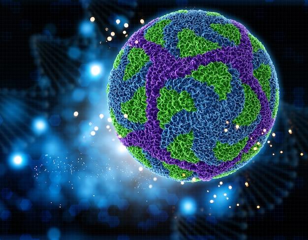 Virus zika 3d Foto gratis