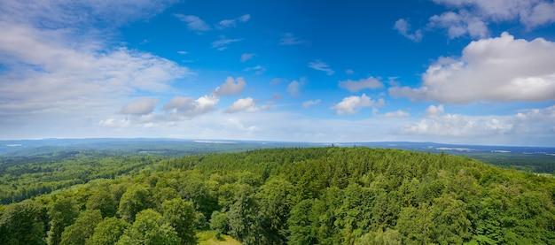 Vista aérea de las montañas de harz alemania Foto Premium