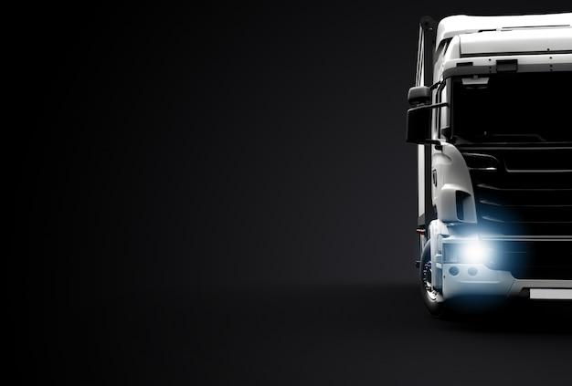 Vista frontal de un camión Foto Premium