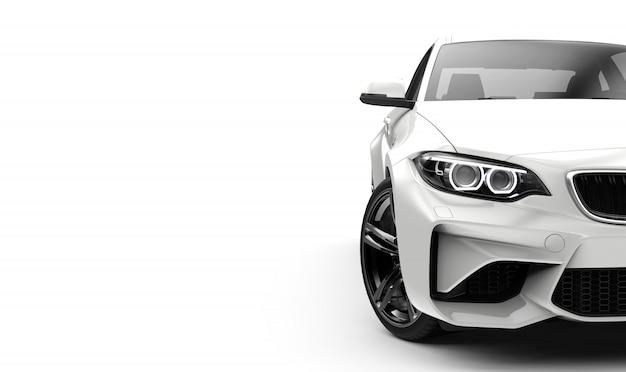 Vista frontal de un coche genérico y sin marca. Foto Premium