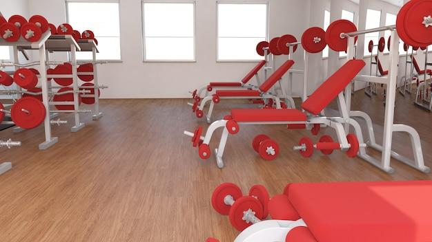 Vista interior de un gimnasio. Foto gratis