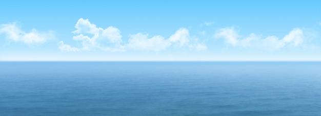 Vista panorámica del mar Foto gratis