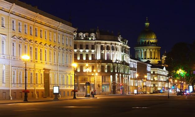 Vista de san petersburgo en la noche Foto gratis