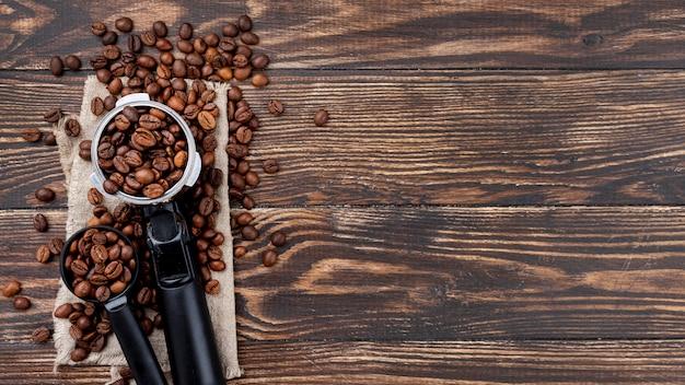 Vista superior de café con espacio de copia Foto gratis