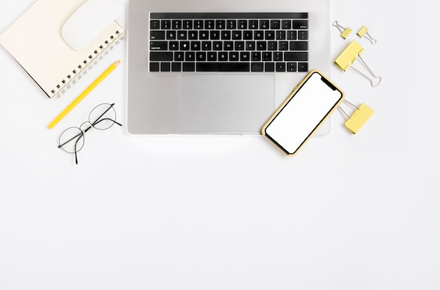 Vista superior del concepto de compras en línea Foto Premium