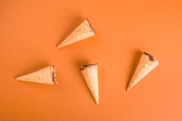 Vista superior galleta de helado Foto gratis