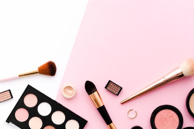 Vista superior maquillaje Foto gratis