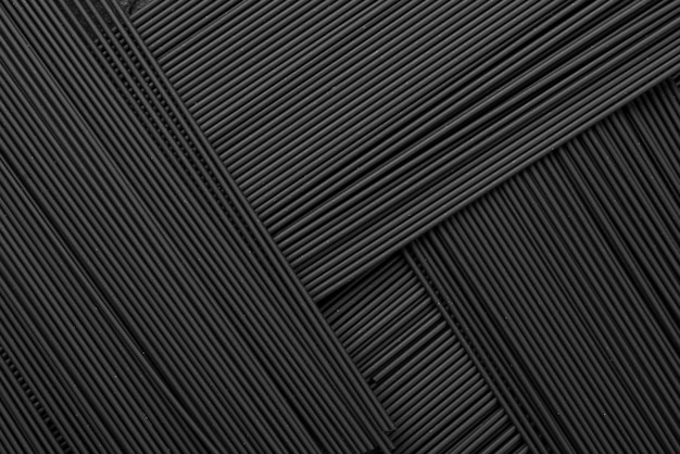 Vista superior del patrón de pasta negra Foto Premium