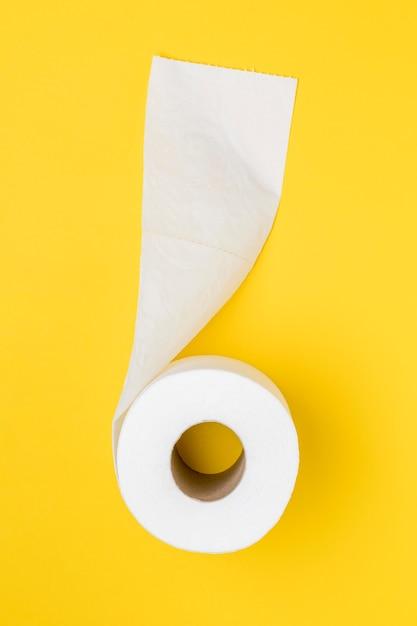 Vista superior del rollo de papel higiénico Foto gratis