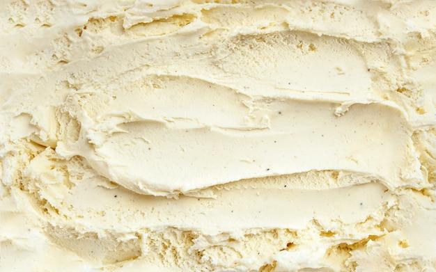 Vista superior de la superficie de helado de vainilla Foto Premium