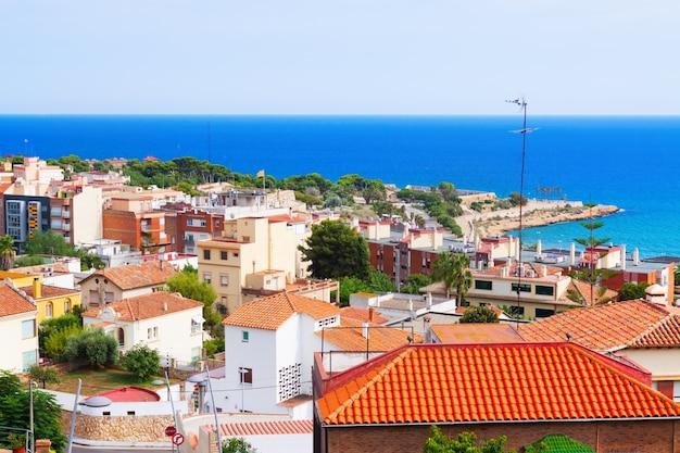 Vista superior de tarragona Foto gratis